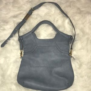 Foley + Corinna purse city tote gray blue vegan